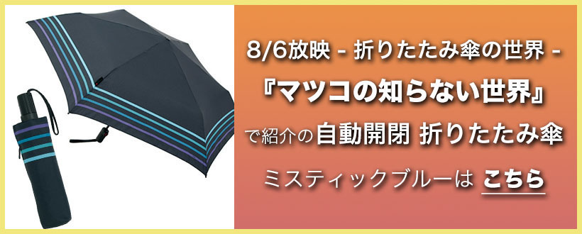 マツコの知らない世界で紹介された自動開閉折りたたみ傘