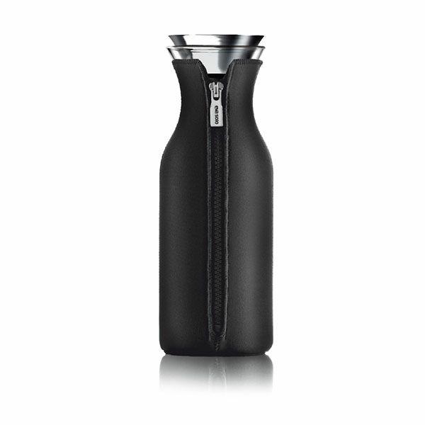 エバソロ evasolo フリッジカラフェ 1.0L ブラックカバー付き 耐熱ピッチャー 水差し 567972 【正規品】