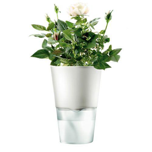 エバソロ evasolo フラワーポット ハーブポット 自動吸水式植木鉢 ホワイト Sサイズ 568103 【正規品】