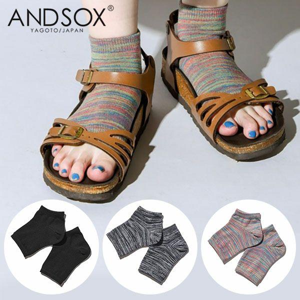 ANDSOX サンダルソックス ONE SIZE(22〜28cm) ユニセックス